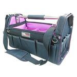 (業務用5個セット) DBLTACT オープンキャリーバッグ(ツールバッグ) 撥水加工 DT-SRB420H 420mm ムラサキ 〔DIY用品/大工道具〕