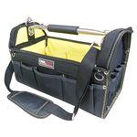 (業務用5個セット) DBLTACT オープンキャリーバッグ(ツールバッグ) 撥水加工 DT-SRB-420 420mm 黄色 〔DIY用品/大工道具〕