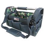 (業務用5個セット) DBLTACT オープンキャリーバッグ(ツールバッグ) 撥水加工 DT-SRB-420 420mm 迷彩 〔DIY用品/大工道具〕