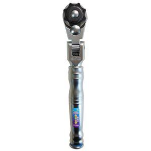 H&H本締めラチェットレンチ(ラチェットハンドル/作業工具)差込角12.7mm首振り伸縮式ギア数:72HHR-40J1/2
