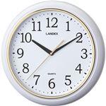 連続秒針のシンプル掛時計ホワイト YW9125WH(ランデックス)