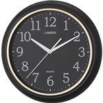 連続秒針のシンプル掛時計ブラック YW9125BK(ランデックス)