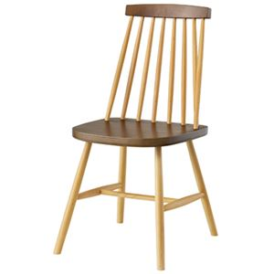 北欧風 ダイニングチェア/食卓椅子 2脚セット 【ミックス】 幅41×奥行51×高さ82cm 木製 〔キッチン 台所 リビング 店舗〕