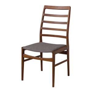 ダイニングチェア/食卓椅子 2脚セット 【幅56cm】 木製 ウレタン塗装 ポリエステル 〔キッチン 台所 店舗〕