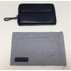 [スモールタイプ・マリンブルー] スマホ入れ、お財布になるスマホウォレット iPhone5/6など小さいスマホ向け / スイス発カーフレザー多機能お財布