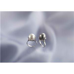 大粒貝パール指輪 2本組 13号 h02