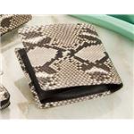 ダイヤモンドパイソン 2つ折財布