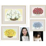 しあわせをまねく絵 【幸せのブーケ】 G4-AB011(きらめく黄色いブーケ・金運・西) 中サイズ