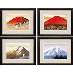 「額絵」シリーズ 「開運画」(富士山水) G4-BF016「黎明富士」 大サイズ