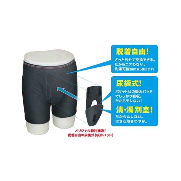 尿モレ対応 紳士用下着 ホールイン・パンツ XLサイズf00