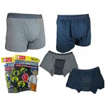 男性用・軽失禁パンツ 快適ボクサーパンツDX グレー Mサイズ