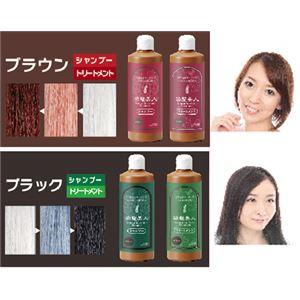 モデム 染髪シャンプー&トリートメント 300ml ブラック シャンプー&トリートメント
