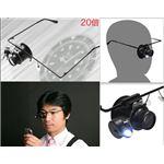 ハンドフリー眼鏡型ヘッドルーペ LED付
