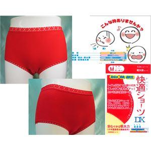 女性用・軽失禁パンツ 快適ショーツDXレッド Lサイズ