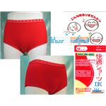 女性用・軽失禁パンツ 快適ショーツDXレッド 3Lサイズ