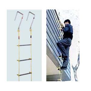 避難用 アルミ縄はしご 8m MLカギ付き