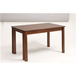 伸長式ダイニングテーブル/エクステンションテーブル【幅120〜200cm】レトロ調木製インナーキャスター仕様