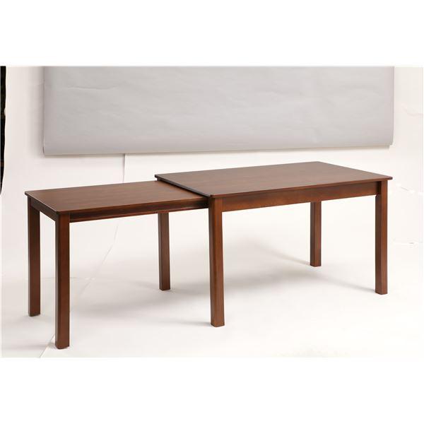 伸長式ダイニングテーブル/エクステンションテーブル 【幅120〜200cm】 レトロ調 『シオン』 木製 インナーキャスター仕様2