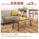 センターテーブル/ローテーブル 【引き出し3杯付き】 ブラウン 『サンド』 幅80cm 木目調