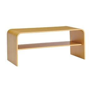 シンプルモダン ローテーブル 【ナチュラル】 幅91.5cm 棚板1枚付き 高耐久性 オーク材 〔リビング ダイニング〕