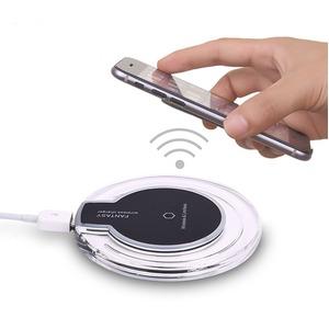 Qi(ワイヤレスチー)充電器(iphone対応)レシーバーセット【5個セット】