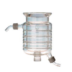 【柴田科学】セパラブルフラスコ 円筒ジャケット形 バンド式(SCHOTTタイプ) 150mm 3L 005550-3001