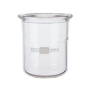 【柴田科学】セパラブルフラスコ 円筒形 バンド式(SCHOTTタイプ) 150mm 2L 005580-2000
