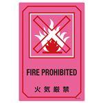 英文字入りサイン標識 火気厳禁 GB-210