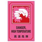 英文字入りサイン標識 高温危険 GB-227