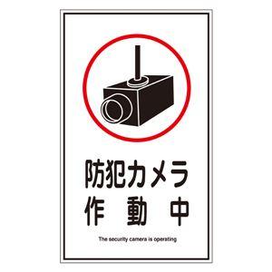 ステッカー標識 防犯カメラ作動中 貼123 【10枚1組】