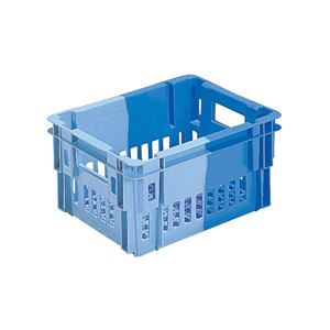 (業務用10個セット)三甲(サンコー) SNコンテナ/2色コンテナボックス 【Cタイプ】 #11 ブルー×ライトブルー