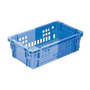 (業務用10個セット)三甲(サンコー) SNコンテナ/2色コンテナボックス 【Cタイプ】 底面水抜孔有 #18 ブルー×ライトブルー
