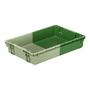 (業務用5個セット)三甲(サンコー) SNコンテナ/2色コンテナボックス 【Cタイプ】 #32-3 グリーン×グリーン