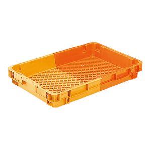 (業務用10個セット)三甲(サンコー) SNコンテナ/2色コンテナボックス 【Cタイプ】 #19TA オレンジ/オレンジ