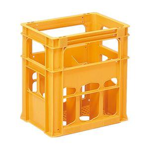 (業務用8個セット)三甲(サンコー)清酒コンテナボックス/酒コン【三甲型6本入】窓付6PSK-1オレンジ