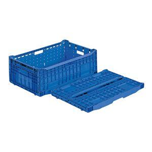 (業務用5個セット)三甲(サンコー) 折りたたみコンテナボックス/EPオリコン 【内倒れ式】 アミ目 EP41A ブルー(青)