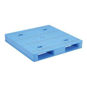 (業務用2個セット)三甲(サンコー)プラスチックパレット/プラパレ 【片面使用タイプ】テープ上 軽量