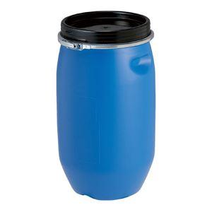 (まとめ) 三甲(サンコー) 液体輸送用プラスチックドラム(プラドラム)PDO 25L-1セット ブルー【×2セット】