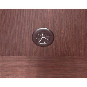 カラーボックス(収納棚/カスタマイズ家具) 4段 【幅40cm×高さ120.3cm】 エイ・アイ・エス 『エシカ』 1240 ブラウン の画像