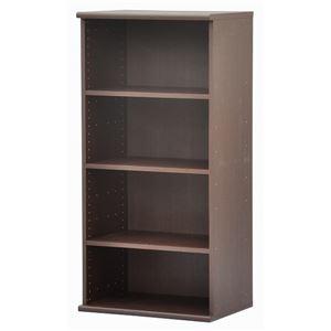 カラーボックス(収納棚/カスタマイズ家具) 4段 【幅58.9cm×高さ120.3cm】 エイ・アイ・エス 『エシカ』 1260 ブラウン の画像