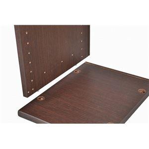 カラーボックス(収納棚/カスタマイズ家具) 2段 【幅58.9cm×高さ43.5cm】 エイ・アイ・エス 『エシカ』 5060 ブラウン の画像