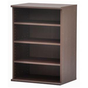 カラーボックス(収納棚/カスタマイズ家具) 4段 【幅58.9cm×高さ81.9cm】 エイ・アイ・エス 『エシカ』 9060 ブラウン の画像