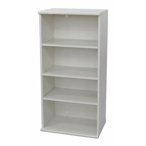 カラーボックス(収納棚/カスタマイズ家具) 4段 【幅58.9cm×高さ120.3cm】 エイ・アイ・エス 『エシカ』 1260 ホワイト の画像