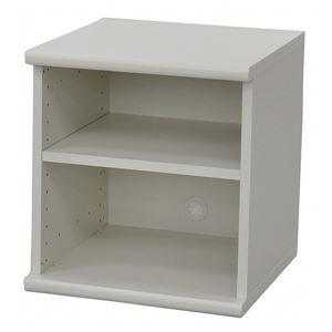カラーボックス(収納棚/カスタマイズ家具) 2段 【幅40cm×高さ43.5cm】 エイ・アイ・エス 『エシカ』 5040 ホワイト の画像