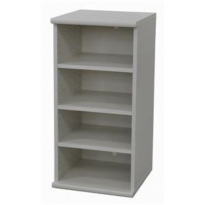 カラーボックス(収納棚/カスタマイズ家具) 4段 【幅40cm×高さ81.9cm】 エイ・アイ・エス 『エシカ』 9040 ホワイト の画像