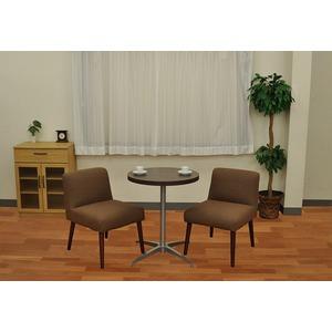 カフェキッツ テーブル用天板 【丸型 ダークブラウン】 直径60cm×高さ3.5cm 〔インテリア家具 什器〕 の画像