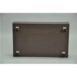 ベッド下収納ボックス/収納ケース 【ブラウン】 幅80cm×奥行50cm×高さ20cm キャスター付き