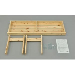 ひのき縁台/ベンチ椅子 【幅120cm】 木製 日本製 ナチュラル 〔玄関 軒先 縁側 ガーデン〕 の画像