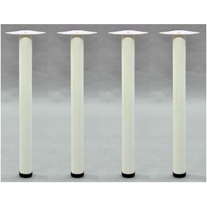 DIY用 テーブル脚【4本セット】 ホワイト色 スチール製 (日曜大工 インテリア家具 什器)※脚のみ の画像