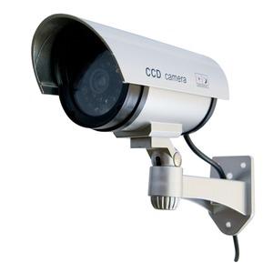 赤外線型ダミーカメラ 【屋内/屋外可】 CCTVステッカー付き CA-11 〔防犯/万引き・不正行為の威嚇〕 - 拡大画像